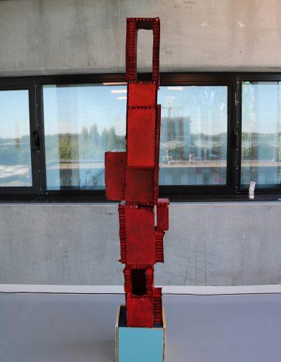 Hermes | 2018 | 150x25x30cm | cardboard, wood